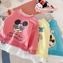 Blouses Popeye Baby-Girls Cartoon Cotton Unisex Disney Fashion Outfits Costume Spring