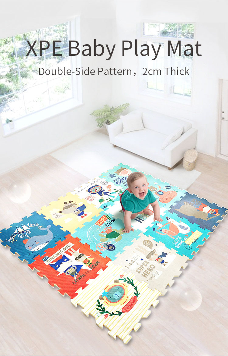 H6cadab46d7d94b838e07a69b3d17b96dP BabyGo PE Foam Play Mat Baby Thickened Tasteless Crawling Pad Children Kids Living Room Cartoon Non-Slip Play Game Floor Mat