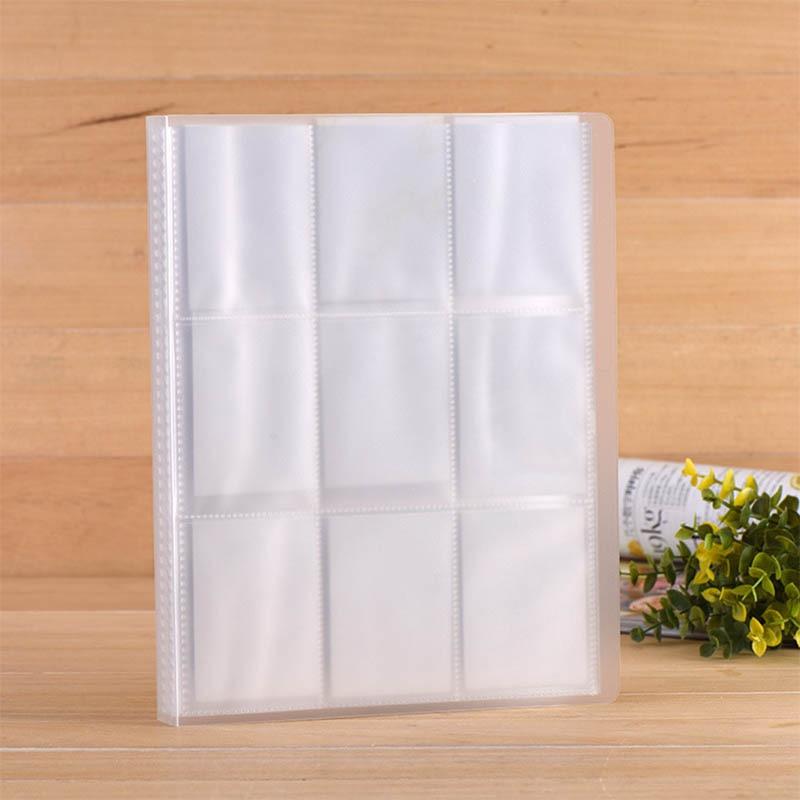 1 pièces grande capacité clipart album photo 288 poches transparent mini film album plastique affaires porte-carte accueil accessoires