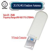 ZQTMAX 20 25dBi antenne extérieure pour 2G 3G 4G signal booster recevoir 698 2700mhz téléphone portable cellulaire répéteur de données