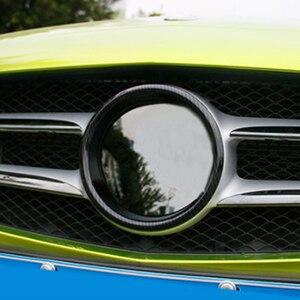 Dla Mercedes Benz A C klasa W205 2016-2019 W176 GLA CLA samochodów przednia maska grille gwiazda naklejana etykieta pokrywa wykończenia akcesoria