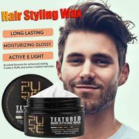 Cera para estilismo del cabello, Gel hidratante con textura cepillada, crema suave de larga duración para salón de peluquería, esencia de palma de cera de abeja, 50ml
