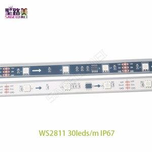 Image 4 - DC12V 5M WS2811 LED פיקסל רצועת אור Rgb מלא צבע 5050 Led רצועת סרט גמיש מיעון דיגיטלי LED קלטת 1 Ic בקרת 3