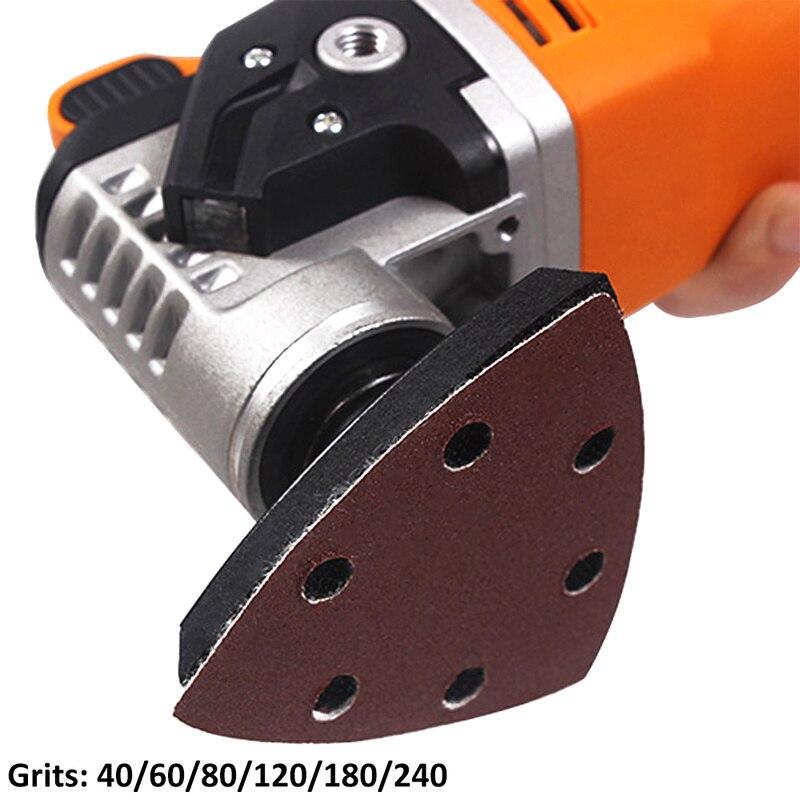 Image 2 - 120pcs Self adhesive Sandpaper Triangle Delta Sander Sand Paper Hook Loop Sandpaper Disc Abrasive Tool for Polishing Grit 40 240-in Abrasive Tools from Tools