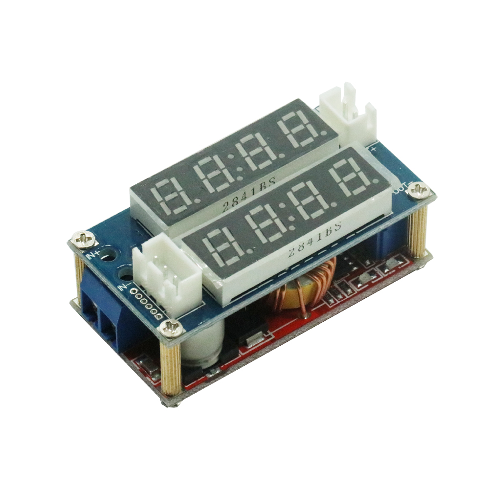 5A Adjustable CC/CV Display Step Down Charge Module LED Panel Voltmeter Ammeter