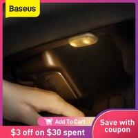 Baseus-linterna LED portátil, luz de trabajo magnética táctil, lámpara de inspección para Interior de coche, 2 uds.
