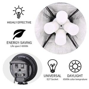 Image 3 - Sh Softbox Verlichting Kit 50X70Cm Fotografie Continue Licht Box Voor Foto Studio Met 8Pcs E27 Socket verlichting Lampen