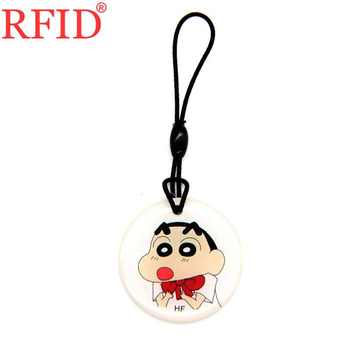 ID 125khz T5577 T5557 T5200 Writable Rewritable Keyfob RFID Card Cartoon Waterproof Keychain Token Tag Access Control Card 1pcs image