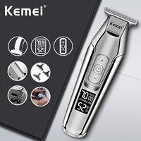 Tagliacapelli elettrico Kemei per uomo tagliacapelli professionale tagliacapelli macchina per rasatura capelli taglio barbiere tagliacapelli rasoio LCD