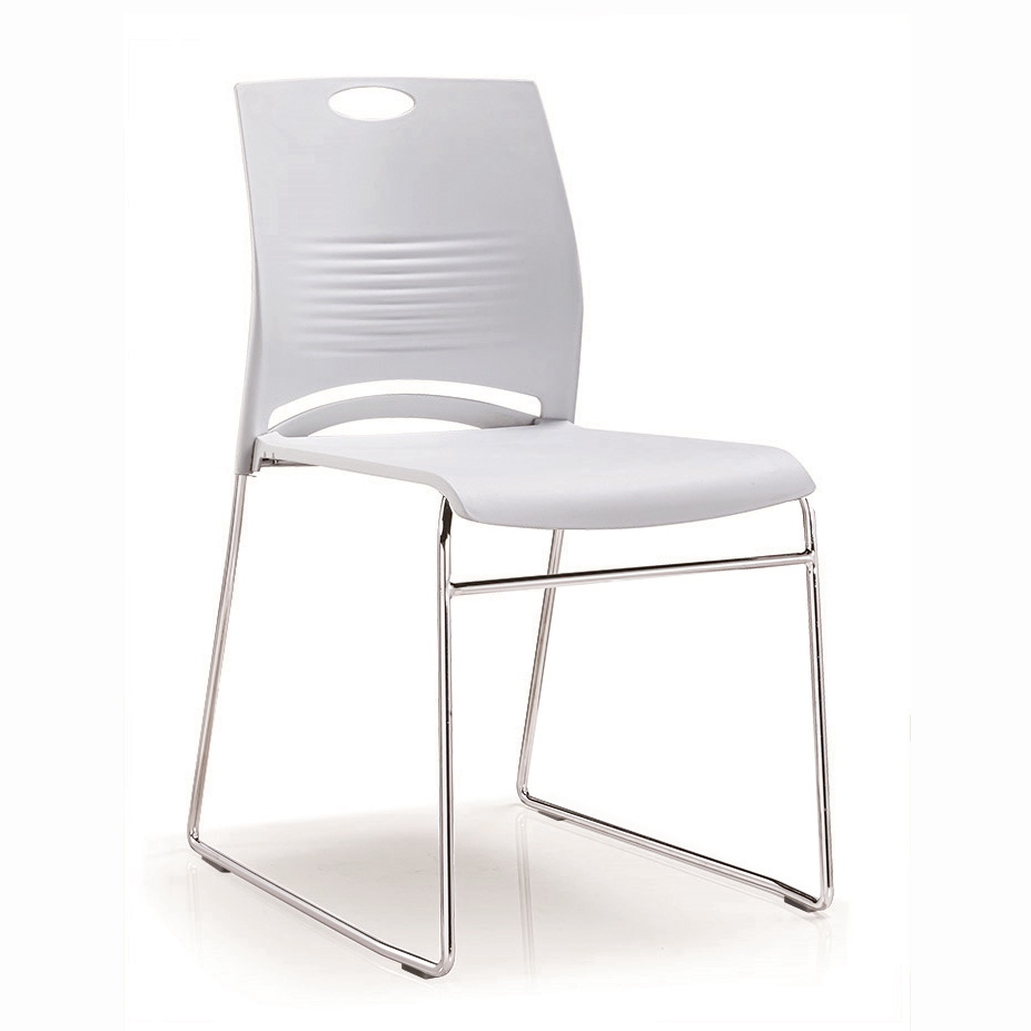 Office Chair Training Chair Simple Plastic Chair Stackable Conference Chair Back Chair Negotiation Chair Solid Steel Leg Compute