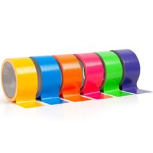Pipa Tape Multi Colored Duct Tape 10 Yards 2 Inch Gulungan Gadis-gadis Anak Laki-laki Anak-anak Kerajinan Super Memperbaiki Kuat Tahan Air Berhenti kebocoran Seal Gadget(China)