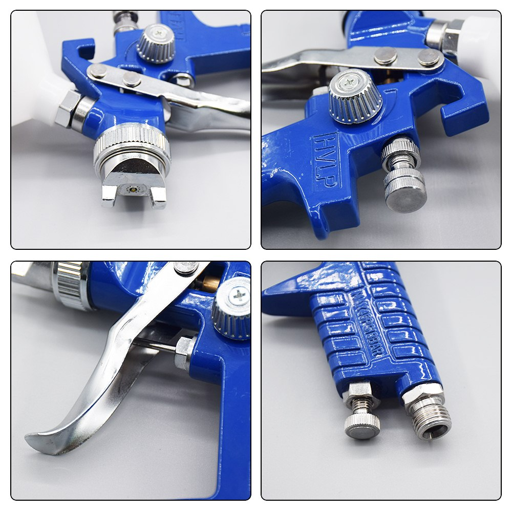 Image 4 - 1.4mm 1.7mm 2.0mm Airbrush HVLP Spray Gun Steel Nozzle H 827 Cars Painting Furnitures DIY Painting Kit Car Auto Repair Tool-in Spray Guns from Tools on