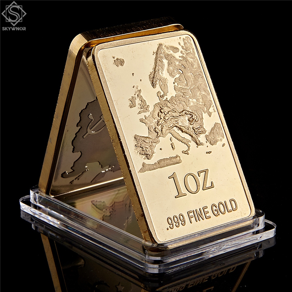 European Map Replica Gold Bar 1 OZ 999 Fine Gold Commemorative Coin Collection|Non-currency Coins|   - AliExpress