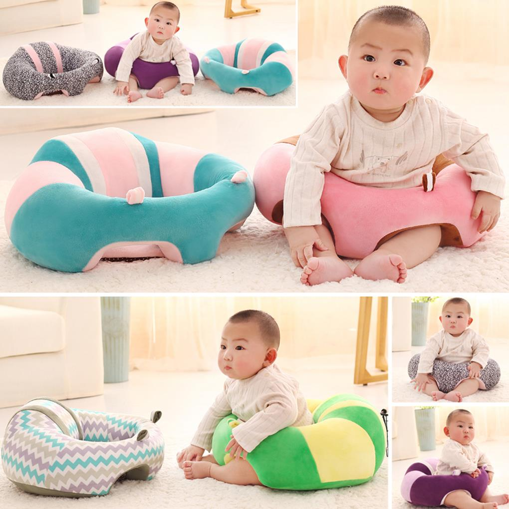 Infant Toddler Kids Baby Support Seat Learn Sit Soft Dining Chair Eating Safe Cushion Sofa Kids Plush Pillow Toys