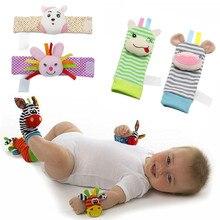 Socks Toys Baby-Rattle-Toys Animal And Garden Bug Cartoon Cute