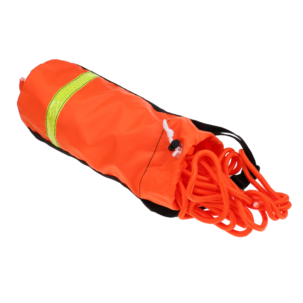 52.5/68.9/101.7ft 0.3' Reflective Buoyant Life Line Rescue Throw Rope Bag - Kayaking Canoeing Boating Rafting Dinghy Water Sport