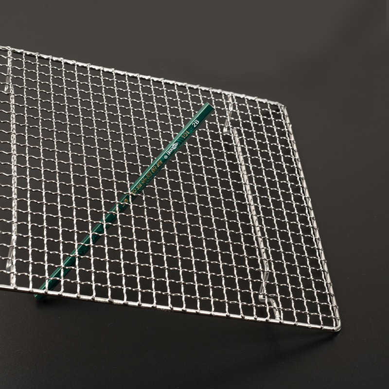 バーベキューメッシュステンレス鋼 304 バーベキューネットバーベキューグリルメッシュ長方形ツール足排水ケーキ乾燥メッシュフレーム