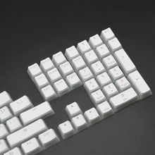 RGB 108 Keycaps ANSI Layout PBT White Pudding Double Skin Milk Shot Backlit Keycap For OEM Cherry MX gh60 poker 87 tkl 104 108