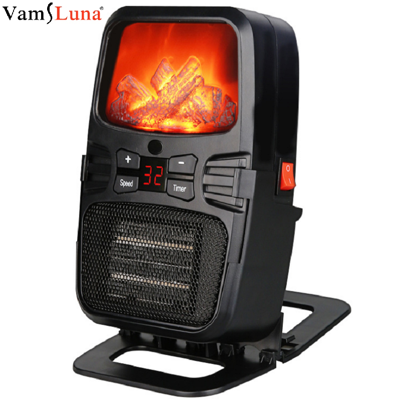 Electric Heater Mini Fan Air Heater Blower With Remote Control PTC Wall Stove Radiator Portable Home Office Warmer Machine