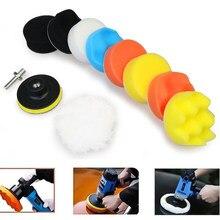 11 pçs/set 3 polegada carro disco de polimento auto-adesivo polimento enceramento esponja lã roda polimento almofada para carro polidor broca adaptador