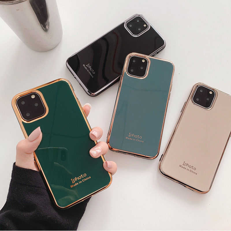 Shockproof Electroplated Phone Case For iPhone 11 11Pro Max XR XS X XS Max 7 8 6 6S Plus Soft Protective Letters Back Cover capa