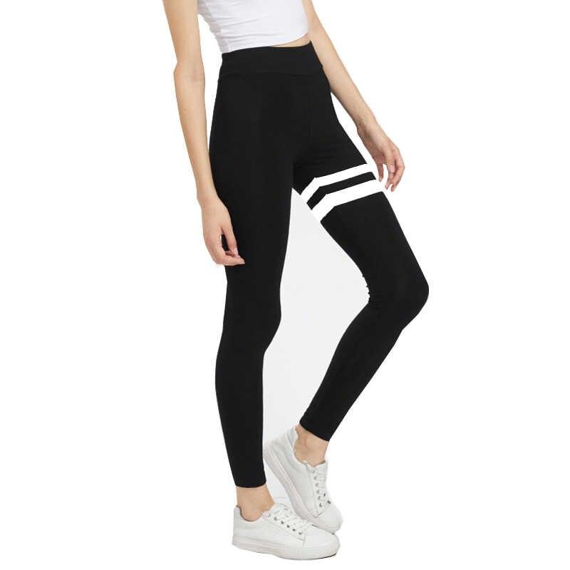 Najlepiej sprzedające się wysokiej talii damskie czarne spodnie jogi elastyczne czerwone sportowe obcisłe legginsy Famale szare spodnie do fitnessu # E