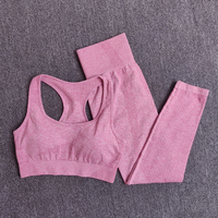 BraPantsPink - Women Seamless Yoga Set Fitness Sports Suits