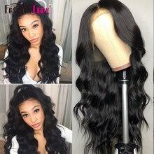 Парики на кружевной бесклеевой основе с передним креплением Fashion Lady с натуральной линией волос, парики из натуральных волос, невидимые парики с каскадными локонами для темнокожих женщин