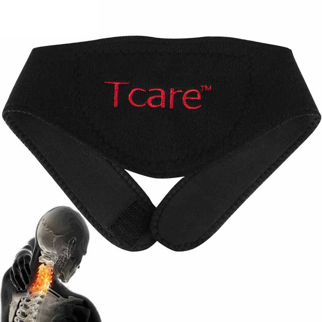 1 Pcs BYEPAIN Tourmaline Magnetic Therapy Neck Massager Cervical Vertebra Protection Spontaneous Heating Belt Body Massager 1