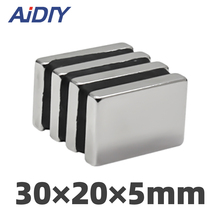 5/10/50 pieces 30x20x5mm  N35 strong Rectangular neodymium magnets permanent small Super powerful 30 * 20 *5mm