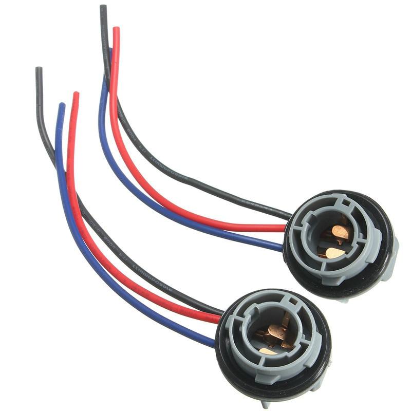 2Pcs 1157 BAY15D Lamp Holder Bulbs P21/4 Adapter Base Socket Connector Plastic Car Accessories For Turn Signal Headlight Light
