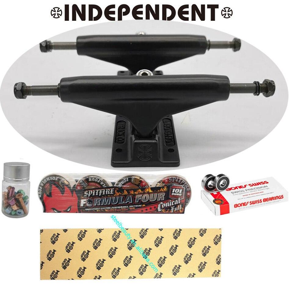 Camions de planche à roulettes indépendants 129/139/149 planches à roulettes poignée bande camions roues de planche à roulettes spitfire roues de planche à roulettes bonne bande - 6