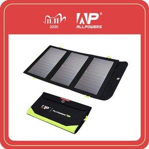 Image 1 - ALLPOWERS 5V 21W 내장 10000mAh 배터리 휴대 전화 용 휴대용 태양열 충전기