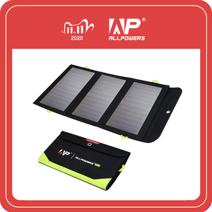 Image 1 - ALLPOWERS 5V 21W Built in 10000mAh Battery Portable Solar Charger for Mobile Phone