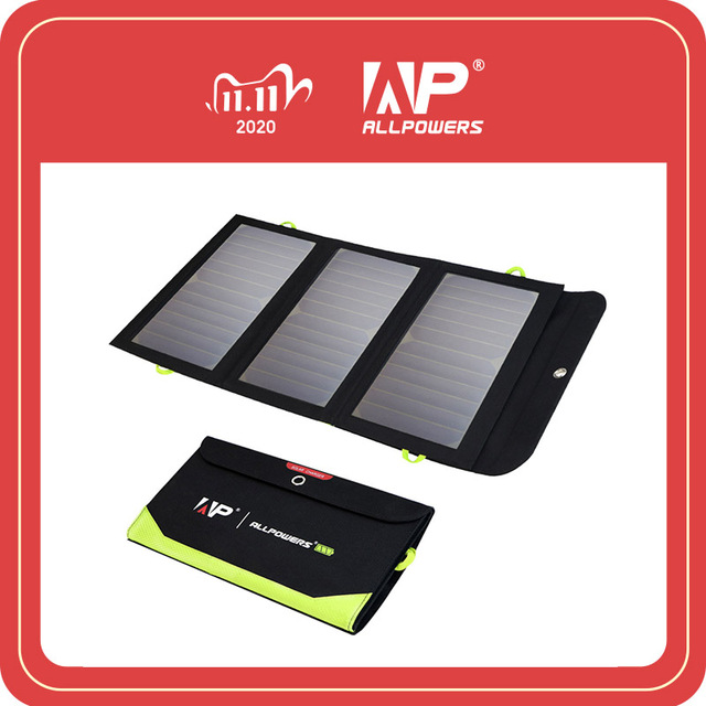 ALLPOWERS 5V 21W Built in 10000mAh Battery Portable Solar Charger for Mobile Phone