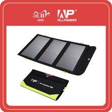 Allpowers 5v 21w construído no carregador solar portátil da bateria 10000mah para o telefone móvel