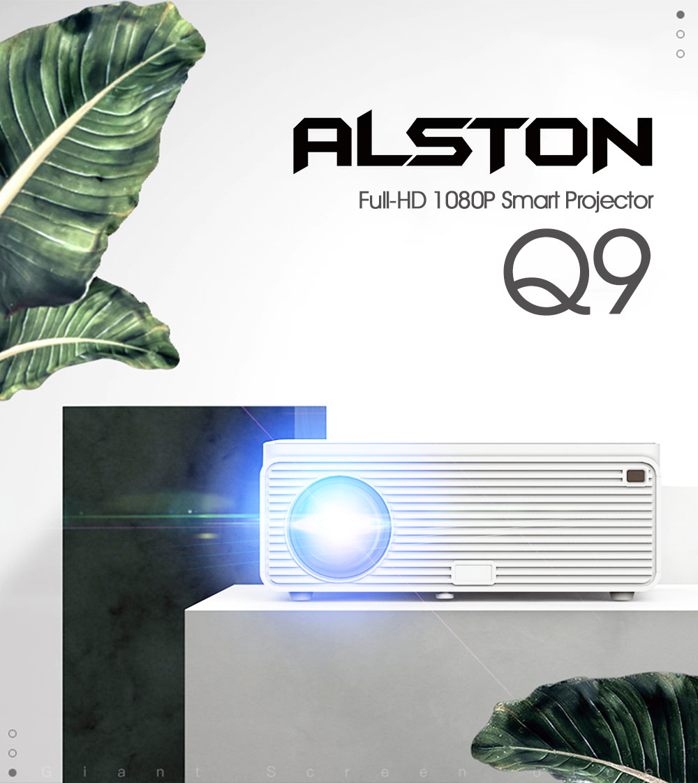 ALSTON Q9 Full HD 1080p projector 4k 6500 Lumens cinema Proyector Beamer HDMI USB AV VGA H96 MAX with gift 2