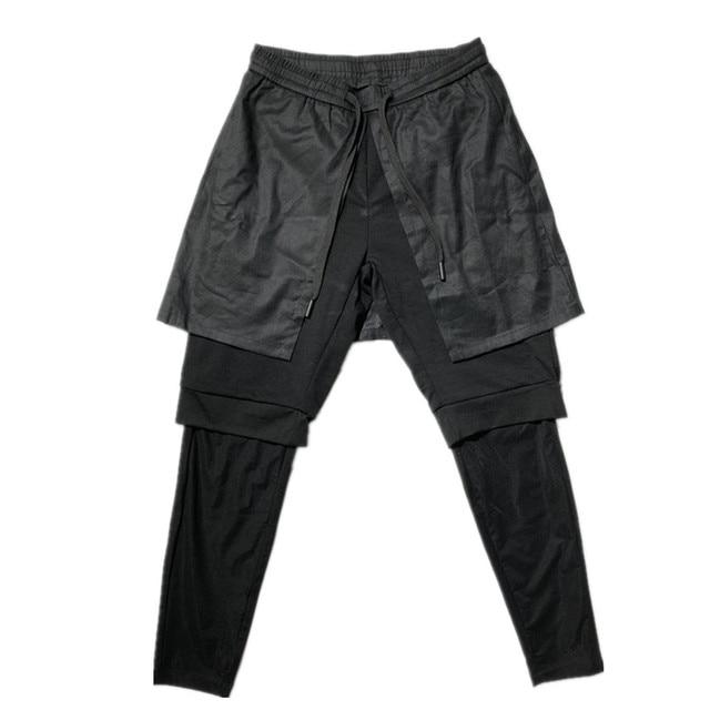 Owen Seak Men Casual Cross Pants Gothic Length Pants Men's Clothing Sweatpants Spring Harem Pants 5
