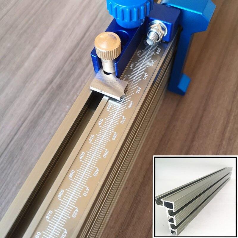 60/80cm Gehrung Track T-track-W/skala lineal Schiebe Klammern T-Slot Aluminium Profil holzbearbeitungswerkbank DIY Zubehör