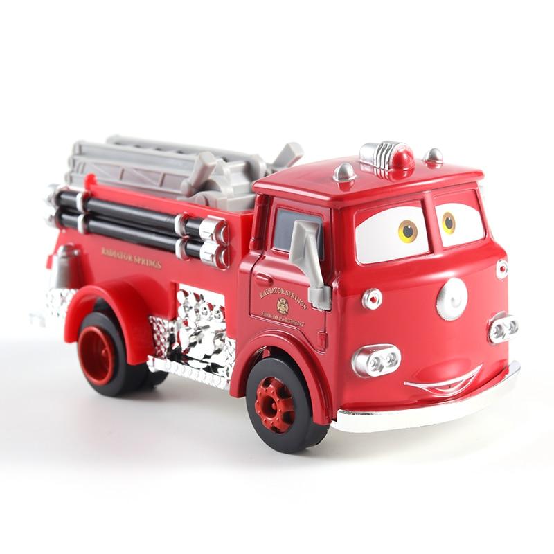 Disney Pixar Cars 2 3 Lightning McQueen Mater Jackson Storm Ramirez 1:55 Diecast Vehicle Metal Fire Truck Boy Toys Birthday Gift