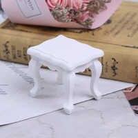 Mueble miniatura para casa de muñecas, mesa de salón de café Teatable, blanco de simulación, Chico, juguete en miniatura, juguetes para el hogar