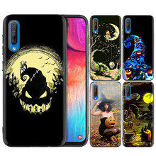 Kasus Silicone Hitam Casing Cover untuk Samsung Galaxy M10 M20 M30 S8 S9 S10 S10e 5G J3 J4 J5 j8 Plus 2018 S7 Edge Ultra Tipis Hallowee(China)