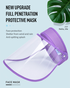 1PC Child Full Face Shield Protective Mask Anti-fog Anti-droplet Dustproof Adult Transparent Safe Outdoor Full Face Cover Mask(China)