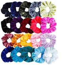 20Pcs/Lot Fine Elastic Hair Bands Scrunchies Hair Rope For Women Girls Hair Grooming Accessories Wholesale все цены