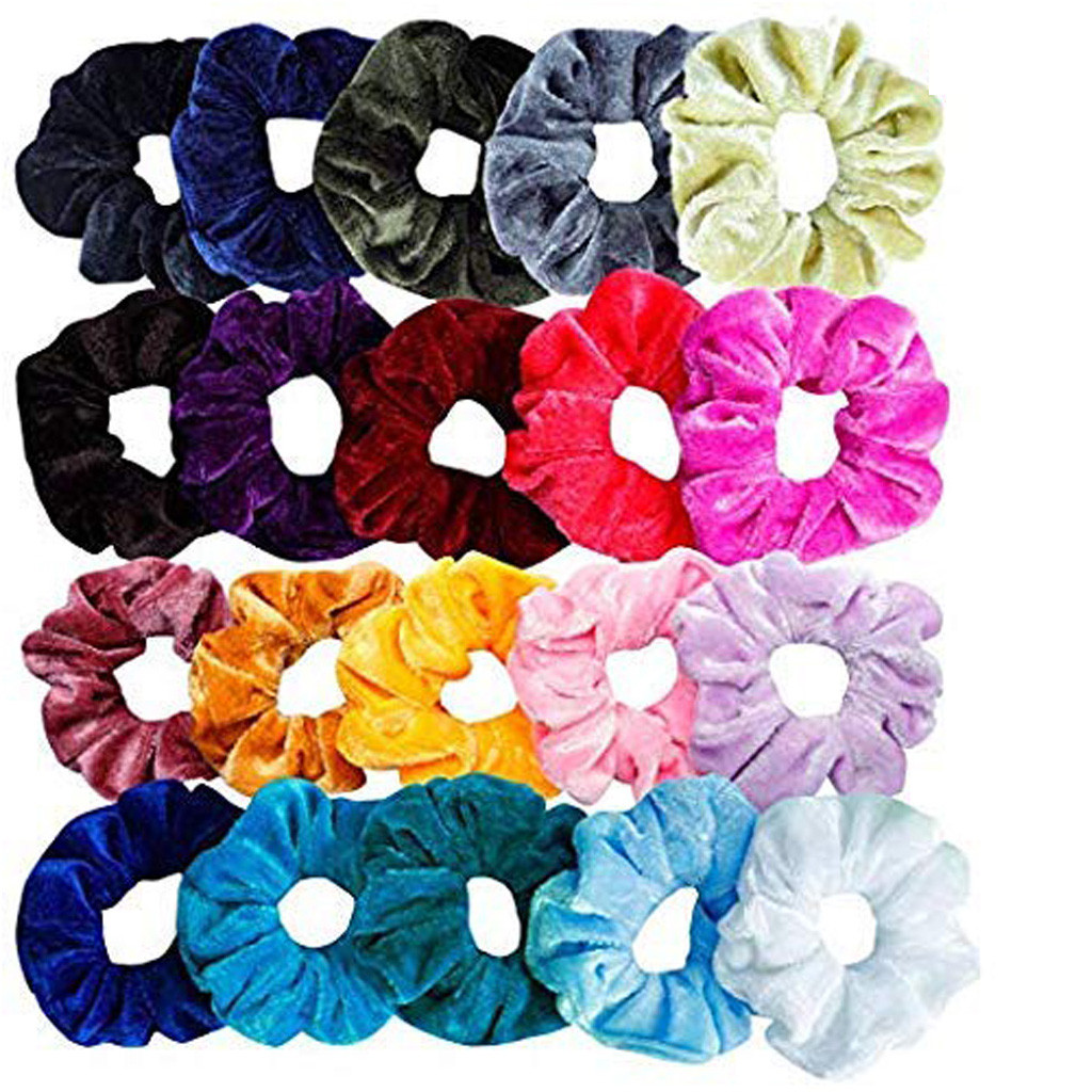 20Pcs/Lot Fine Elastic Hair Bands Scrunchy Hair Rope For Women Girls Hair Grooming Accessories Wholesale
