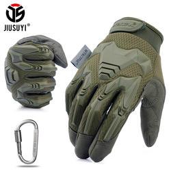 Тактические Военные перчатки армейский Пейнтбол Стрельба, страйкбол боевой Велосипед резиновый защитный Противоскользящий перчатки