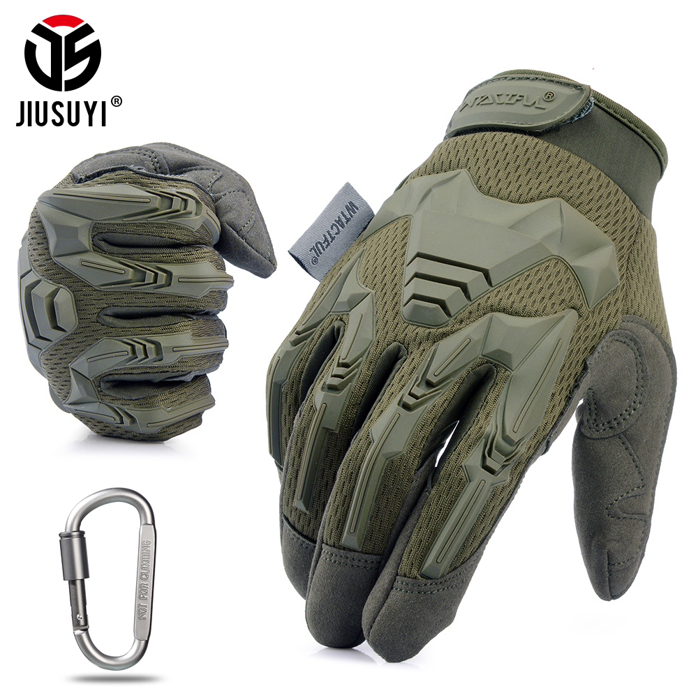 Military-Gloves Protective Bicycle Rubber Paintball-Shooting Combat Anti-Skid Airsoft title=