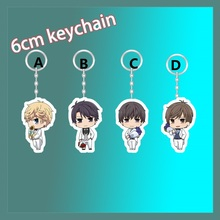 Anime Keychain love and producer Simon Kira haku zen flower strap Figure 6cm