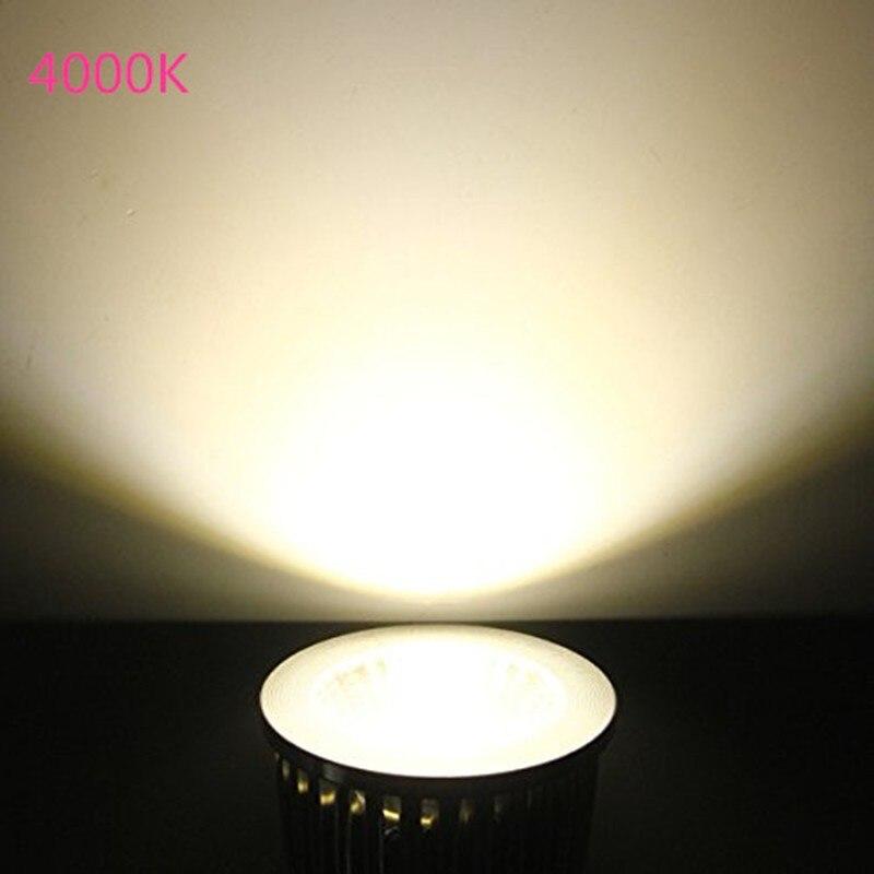 Купить с кэшбэком Led Bulb Spotlight 3W 4W 5W GU10 GU5.3 E27 E14 110V 220V Cold White Nature White 4000k Red Green Blue Yellow Dimmable Spot Light