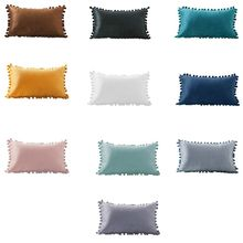 Waist-Throw-Pillow Case Decorative Rectangle Cushion Couch Velvet Lumbar Nordic-Style